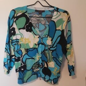 Blue Floral Cardigan